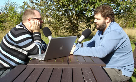 Recording the podcast outside